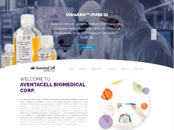 杰鼎網站設計範例- AventaCell BioMedical Corp